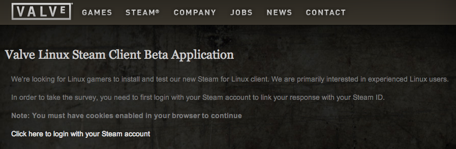 Questionnaire Steam Linux