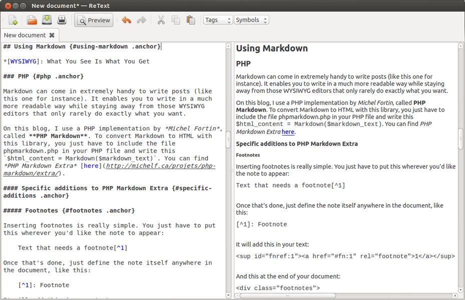 retext screenshot
